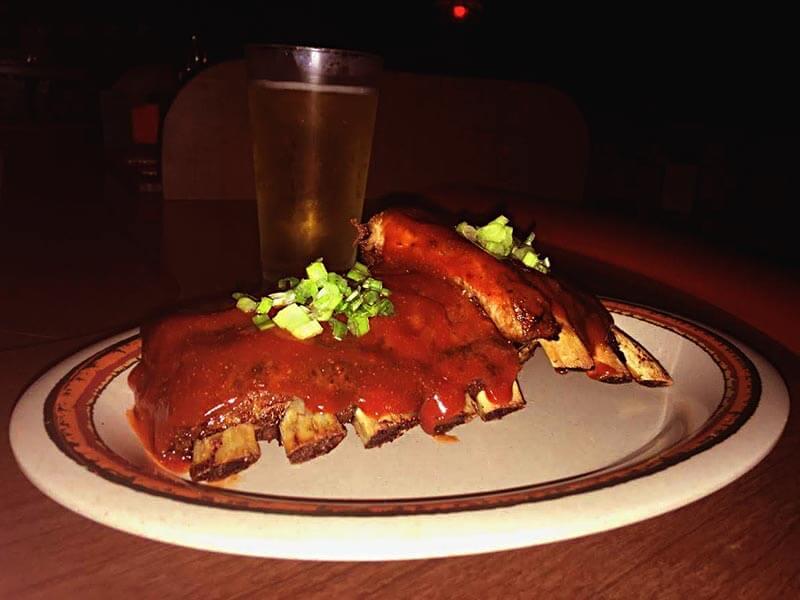 Nunu's Tavern Half Rack Baby Back Pork Ribs Plate